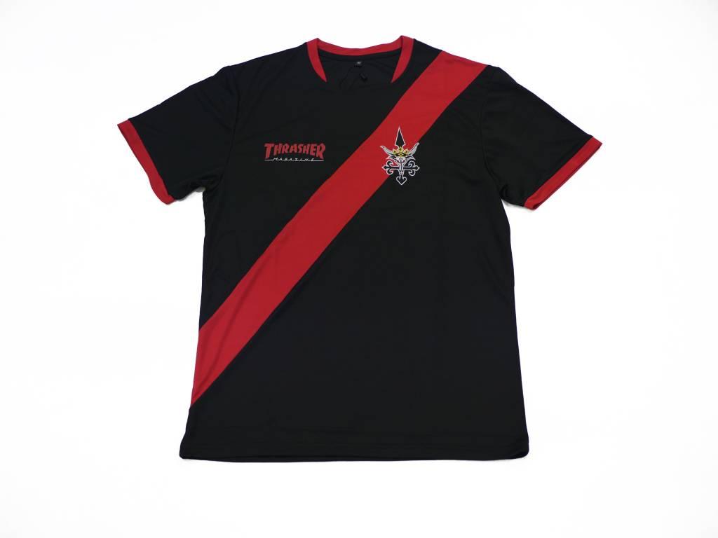 THRASHER THRASHER FUTBOL JERSEY BLACK/RED