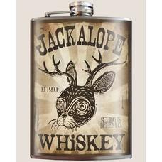 Trixie and Milo Jackalope Whiskey Flask, 8 oz