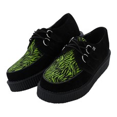 TUK Black Suede/Neon Green Zebra Creeper