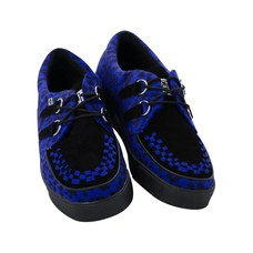 TUK Blue & Black Cheetah 2-Ring Creeper Sneaker
