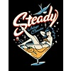 Steady Steady Martini Girl Mens Tee