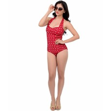 Unique Vintage Darling Polka Dot Maillot