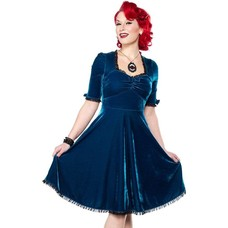 Sourpuss Velvet Vivienne Dress