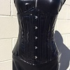 Timeless Trends Shiny Black Vinyl Underbust - 24