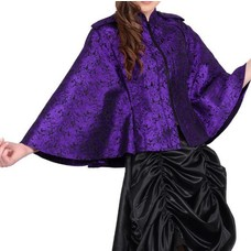 Vintage Goth Gothic Purple Brocade Cape/Jacket