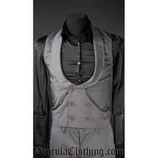 Dracula Clothing Dracula Waistcoat - Grey