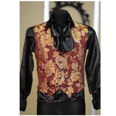 Dracula Clothing Floral Brocade Waistcoat