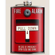 Trixie and Milo Fire Alarm! Flask, 8 oz.