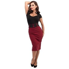 Steady Wiggle Skirt With Belt
