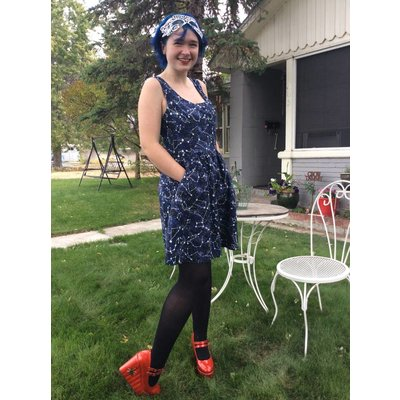 Retrolicious Constellations Dress (glow in the dark)