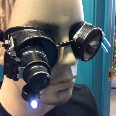 Goggles w/ 20x LED Loupe & Pressure Manifold (257)