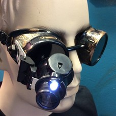 Goggles w/ LED 20x Loupe Time Piece & Antique Fiigree (255)