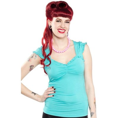 Sourpuss Vixen Top Teal
