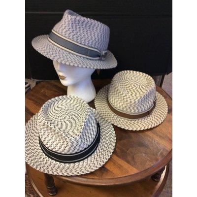 DeLux Hats Tatum Varigated Raffia Unisex Hat