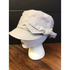 DeLux Hats Eaux Claires Fabric Cap w/ Side Bow Ivory
