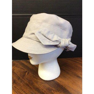 DeLux Hats Eaux Claires Fabric Cap w/ Side Bow Ivory