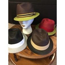 DeLux Hats Ramsay 2-Color Raffia Fedora