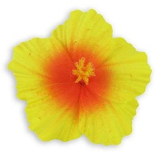 Yellow Orange Small Hibiscus Clip