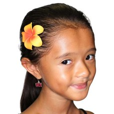 Small Single Orange Plumeria Clip