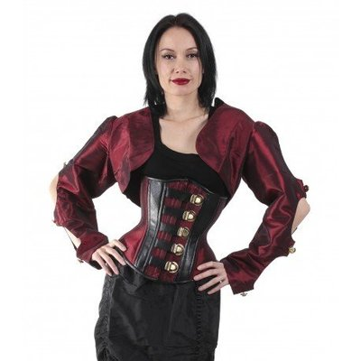 Timeless Trends Red Long Sleeve Button Shrug