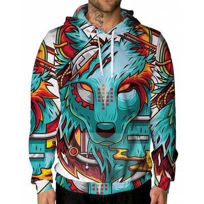 INTO THE AM Digital Wolf Unisex Hoodie