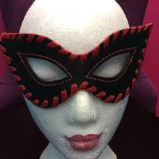 Kookie Edge-Stitched Leather Fetish Mask