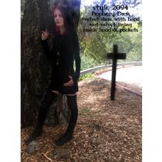 Folter Prophesy Velvet Hooded Dress Plus Size