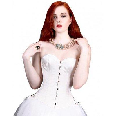 Timeless Trends White Satin Bridal Overbust - 20M
