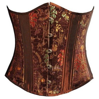 Timeless Trends Brown Chinese Brocade Underbust - 20