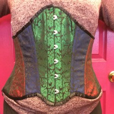 Multi-Jewel-Toned Brocade Underbust - 32