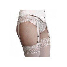 Timeless Trends White Corset Garter Strap (one)
