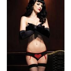 Leg Avenue Lace Heart Panty w/ Peek-a-boo