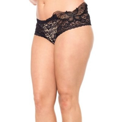 Leg Avenue Sequin Butterfly Lace Tanga