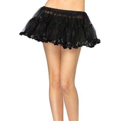 Leg Avenue Short Petticoat w/ Pleated Satin Trim, O/S