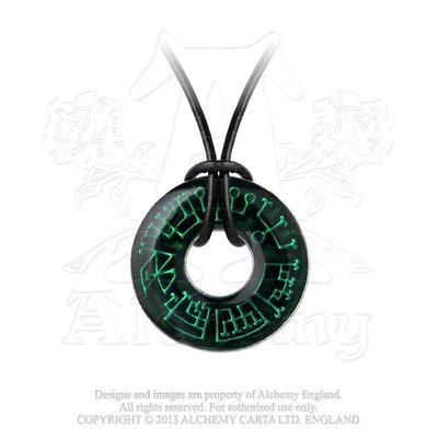 Alchemy England 1977 Angel Ring Pendant on Leather Thong