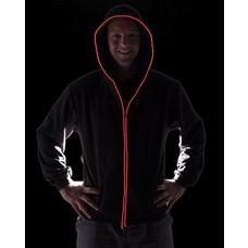 Light Up Black Mens Hoodie