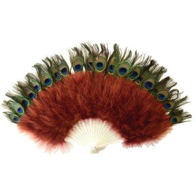 Marabou Fan with Peacock Eyes