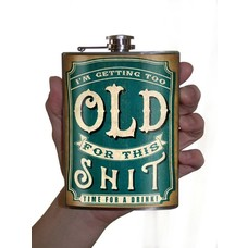Trixie and Milo Old Shit Flask, 8 oz
