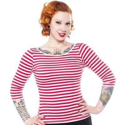 Sourpuss Striped Audrey Top