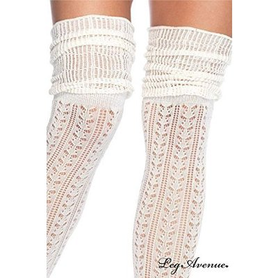 Leg Avenue Acrylic Pointelle OTK Scrunch Socks