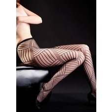 Yelete Cross Hatch Fishnet Tights, Blk - R