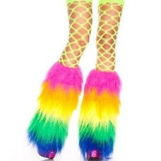Music Legs Rainbow Furry Fluffies