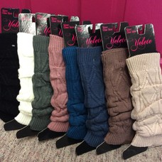 Yelete Ladies' Diamond Knit Leg Warmers