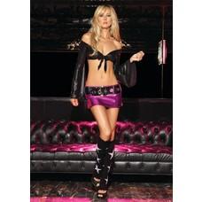 Leg Avenue Lame' Mini Skirt & Belt