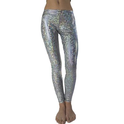 Silver Hologram Leggings