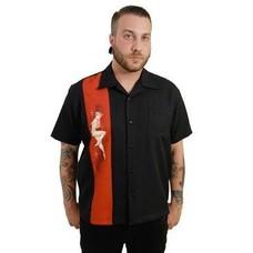 Steady Single Pin-Up Shirt, Black