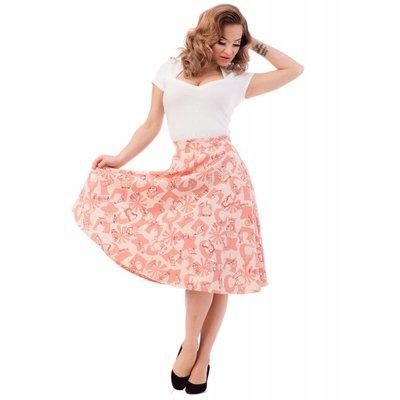 Steady Rum Tiki Thrills Skirt Peach