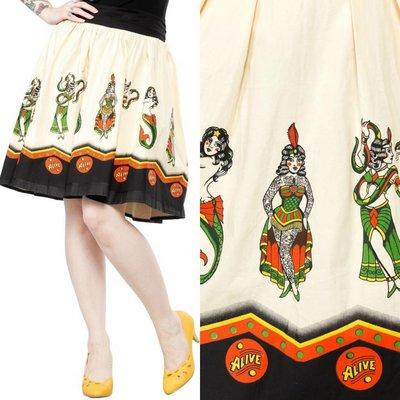 Sourpuss Sideshow Ladies Swing Skirt