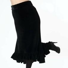 Fado Black Velvet Skirt