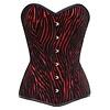 Vintage Goth Adne Red/Black Zebra Brocade Aster Overbust
